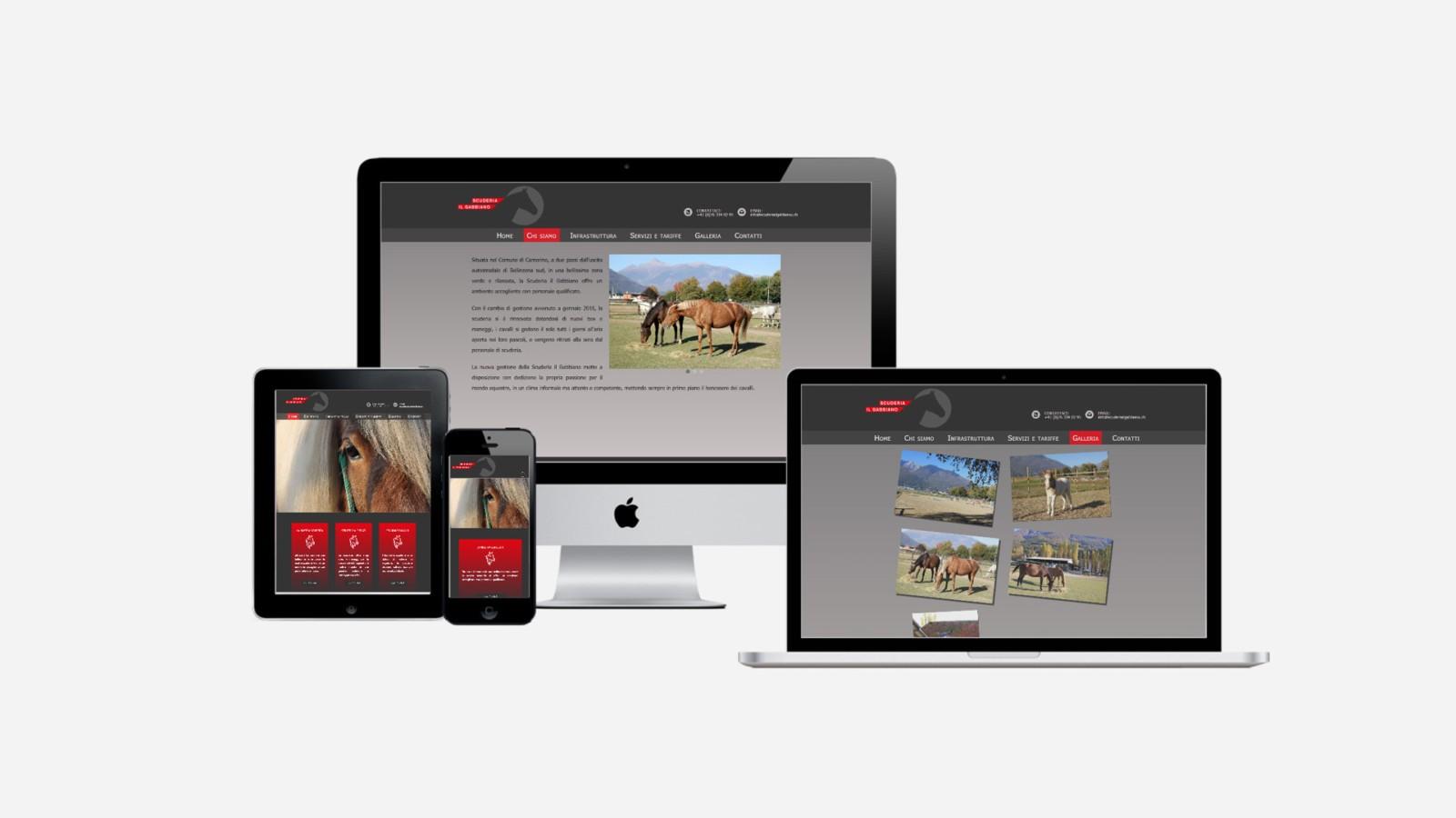 Creazione siti web scuderia il gabbiano
